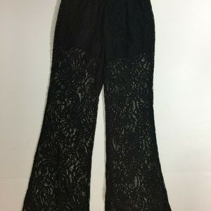 Shosho Black Sheer Lace with short liner Small